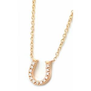 (ジュエリー)TIFFANY&Co. ティファニー ホースシュー ネックレス ペンダント K18 PG 750 ピンクゴールド ダイヤモンド ダイヤ D0.03ct(k)|blumin