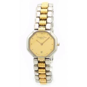 (ウォッチ)Christian Dior クリスチャン ディオール スウィング スイング デイト ゴールド文字盤 SS GP コンビ レディース クォーツ 腕時計 48.203(k) blumin