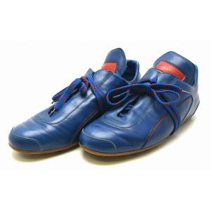 (靴)LOUIS VUITTON ルイ ヴィトン メンズ 2002年 日韓ワールドカップ記念 フットボールシューズ シューズ スニーカー レザー 赤 青 レッド ブルー サイズ#7(k) blumin