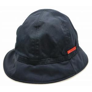 (アパレル)PRADA プラダ プラダスポーツ 帽子 ハット #M ナイロン ネイビー 濃紺 レッド 赤 RN98339 CA34767(k)|blumin