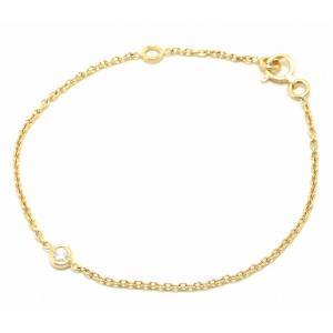 (ジュエリー)Christian Dior クリスチャン ディオール ミミウィ 1Pダイヤ ブレスレット K18YG 750YG イエローゴールド ダイヤモンド(u) blumin