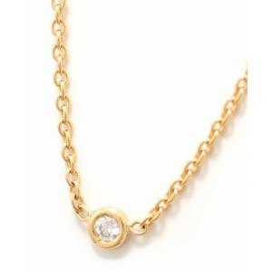 (ジュエリー)Christian Dior クリスチャン ディオール ミミウィ 1Pダイヤ ペンダント ネックレス K18YG 750YG イエローゴールド ダイヤモンド(k) blumin