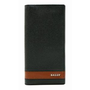 (財布)BALLY バリー 2つ折 ファスナー長財布 型押しレザー 黒 ブラック 茶 ブラウン LALIRO.S/30(u)|blumin