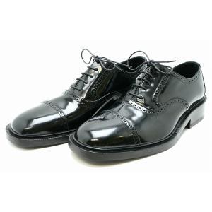 (靴)GUCCI グッチ ドレスシューズ 紳士靴 シューズ エナメルレザー パテントレザー レザー 黒 ブラック 41E(日本サイズ約26cm) 115249(k)|blumin