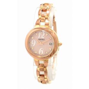 (ウォッチ)SEIKO セイコー TISSE ティセ デイト ピンク文字盤 ピンクゴールドメッキ レディース ソーラー充電式 腕時計 V137-0AM0 SWFC004(k)|blumin