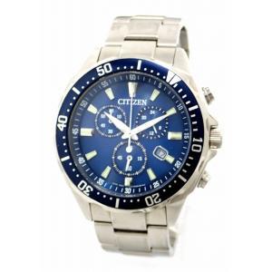 (ウォッチ)CITIZEN シチズン オルタナ エコドライブ ソーラー クロノグラフ デイト ブルー文字盤 SS メンズ 腕時計 H500-S64597 V010-6772F(u) blumin