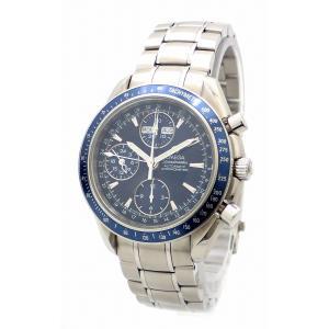 (ウォッチ)OMEGA オメガ スピードマスター ブルー文字盤 トリプルカレンダー AT オートマ 自動巻き メンズ 腕時計 3222.80(k) blumin