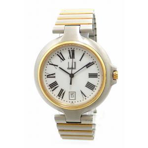 (ウォッチ)dunhill ダンヒル ミレニアム ラージ ホワイトダイアル ローマンインデックス 36MM メンズ クォーツ 腕時計 (k)|blumin