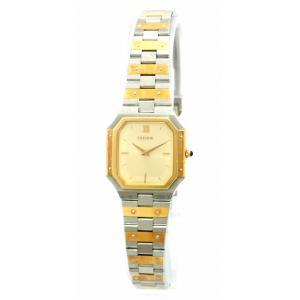 (ウォッチ)SEIKO セイコー CREDOR クレドール シャンパンゴールド文字盤 SS K14ベゼル K18 コンビ イエローゴールド レディース クォーツ 腕時計 8420-5360(k)|blumin