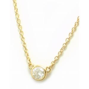 (ジュエリー)TIFFANY&Co. ティファニー エルサ ペレッティ バイザヤード ネックレス K18YG イエローゴールド 1PD ダイヤモンド D0.05ct(k)|blumin