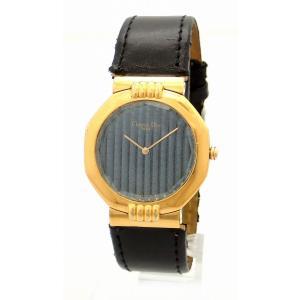 (ウォッチ)Christian Dior クリスチャン ディオール スウィング ブルー文字盤 GP 革ベルト メンズ QZ クォーツ 腕時計 63151(k) blumin