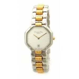 (ウォッチ)Christian Dior クリスチャン ディオール スイング デイト ホワイト文字盤 SS GP コンビ レディース クォーツ 腕時計 D48 203 1(k) blumin