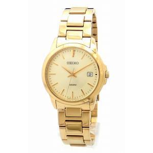 (ウォッチ)SEIKO セイコー デイト ゴールド文字盤 100M GP ゴールドメッキ メンズ QZクォーツ 腕時計 7N42-0F00(k)|blumin
