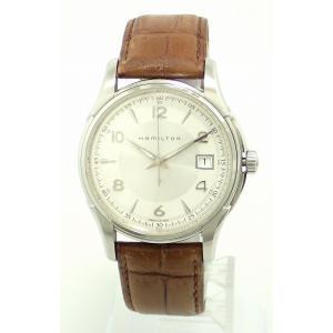 (ウォッチ)HAMILTON ハミルトン ジャズマスター ジエンド デイト ホワイト文字盤 SS レザー メンズ QZ クォーツ 腕時計 H32411555(u)|blumin