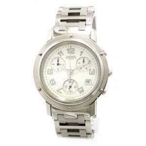 (ウォッチ)HERMES エルメス クリッパー クロノグラフ デイト ホワイト文字盤 メンズ クォーツ 腕時計 CL1.910 (u) blumin