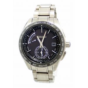 (ウォッチ)SEIKO セイコー BRIGHTZ ブライツ ワールドタイム デュアルタイム カレンダー デイト ブラック文字盤 SS メンズ ソーラー電波 腕時計 SAGA167(k)|blumin
