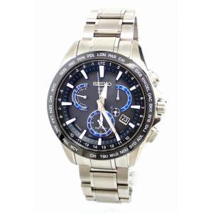 (ウォッチ)SEIKO セイコー アストロン 8Xシリーズ デュアルタイム ソーラー GPS衛星電波 ブラック文字盤 SS セラミック メンズ 腕時計 8X53-0AD0 SBXB107(k)|blumin