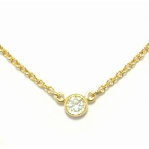 (ジュエリー)TIFFANY&Co. ティファニー バイザヤード ネックレス ペンダント K18YG イエローゴールド 1PD ダイヤモンド ダイヤ D0.05ct(u)|blumin