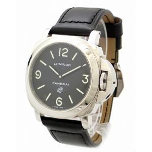 (ウォッチ)PANERAI パネライ ルミノールベース ロゴ 44mm K番 SS 革ベルト メンズ 手巻き 腕時計 PAM00000(k) blumin