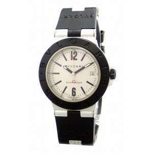 (ウォッチ)BVLGARI ブルガリ アルミニウム デイト シルバー文字盤 ラバーベルト メンズ AT オートマ 腕時計 AL38TA  (u)|blumin