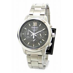 (ウォッチ)SEIKO セイコー クロノグラフ デイト ブラック文字盤 SS メンズ QZ クォーツ 腕時計 6T63-00N0 SSB139P1(u)|blumin