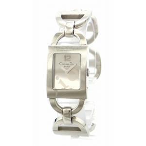 (ウォッチ)Christian Dior クリスチャン ディオール マリススクエア マリス スクエア シルバー文字盤 レディース クォーツ 腕時計 D78-1092 D78 1092(k) blumin