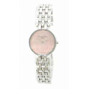 (ウォッチ)Christian Dior クリスチャン ディオール バギラ ピンクシェル文字盤 SS レディース クォーツ 腕時計 D44 120 D44-120(k) blumin