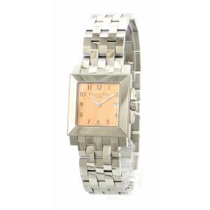 (ウォッチ)Christian Dior クリスチャン ディオール スクエア デイト コパー文字盤 SS メンズ クォーツ 腕時計 D71-100 D71 100(k) blumin
