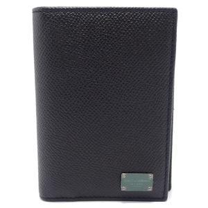 DOLCE&GABBANA ドルチェ&ガッバーナ D&G ドルガバ カードケース 名刺入れ 型押しレザー ブラック 黒 BP1644 A12471(u)|blumin