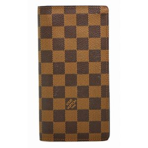 (財布)LOUIS VUITTON ルイ ヴィトン ダミエ ポルトフォイユ ブラザ 2つ折長財布 イニシャル入り N60017(k)|blumin