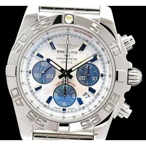(ウォッチ)BREITLING ブライトリング クロノマット44 ホワイトシェル ブルーシェル文字盤 日本限定300本 44mm メンズ AT オートマ 腕時計 A011AJLPA (k)|blumin