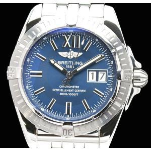 (ウォッチ)BREITLING ブライトリング クロノコックピット ビッグデイト ブルー文字盤 41mm メンズ 腕時計 オートマ A49350(u)|blumin