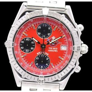 (ウォッチ)BREITLING ブライトリング クロノマット レッドアローズ クロノグラフ レッド文字盤 40mm メンズ AT オートマ 腕時計 A13050.1(k)|blumin