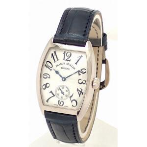 (ウォッチ)FRANCK MULLER フランクミュラー トノーカーベックス 28.5mm K18WG ホワイトゴールド 手巻 腕時計 7500 S6(k) blumin