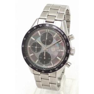 (ウォッチ)TAG Heuer タグ ホイヤー カレラ クロノグラフ ブラックシェル 日本限定600本 オートマ AT メンズ 腕時計 シースルーバック CV201K(u)|blumin