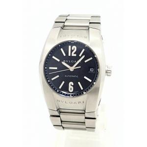 (ウォッチ)BVLGARI ブルガリ エルゴン デイト ブラック文字盤 メンズ AT オートマ 腕時計 EG35S EG35SSD(k)|blumin