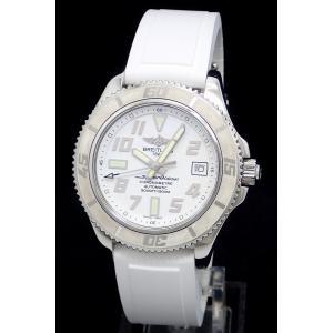 (ウォッチ)BREITLING ブライトリング スーパーオーシャン42 日本限定モデル デイト ホワイト文字盤 1500m ダイバー メンズ 腕時計 AT オートマ A17364(k)|blumin