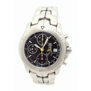 (ウォッチ)TAG Heuer タグ ホイヤー リンク アイルトン セナ 限定モデル クロノグラフ デイト ブラック文字盤 メンズ AT オートマ 腕時計 CT2115.BA0550(u)|blumin