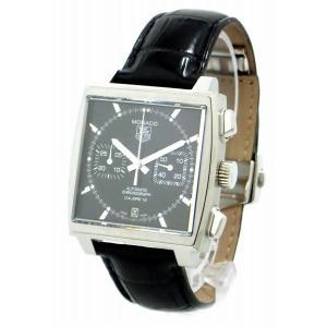 (ウォッチ)TAG Heuer タグ ホイヤー モナコ キャリバー12 クロノグラフ スクエア デイト ブラック文字盤 メンズ AT オートマ 腕時計 CAW2110 FC6177(k)|blumin