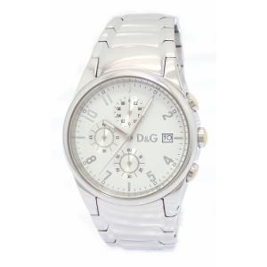 (ウォッチ)DOLCE&GABBANA ドルチェ&ガッバーナ D&G クロノグラフ ホワイト文字盤 SS メンズ QZ クォーツ 腕時計 (k)|blumin