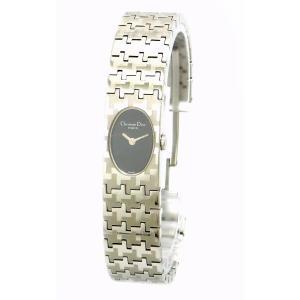 (ウォッチ)Christian Dior クリスチャン ディオール ミスディオール ブラック文字盤 SS レディース クォーツ 腕時計 D70-100(k) blumin