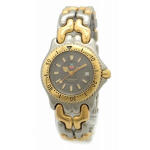 (ウォッチ)TAG Heuer タグ ホイヤー 2000 S/el セルシリーズ 200m防水 グレー文字盤 SS GP コンビ デイト レディース QZ クォーツ 腕時計 WG1320-2(k)|blumin