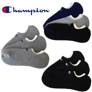 CHAMPION チャンピオン 靴下3足セット メンズ スニーカー用ショートソックス ゴーストソックス 定番色 グレー/ブラック(黒)/ネイビー  25-27cm bmc-tokyo