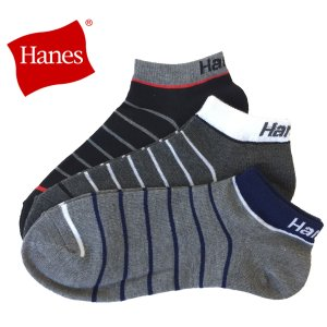 HANES ヘインズ  靴下3足セット メンズ スニーカー用ショートソックス アソート  25-27cm bmc-tokyo