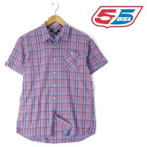 大きいサイズ メンズ XL XXL 55DSL 半袖チェックシャツ ブルー系 USA直輸入 05d01z-55a38-d002|bmo
