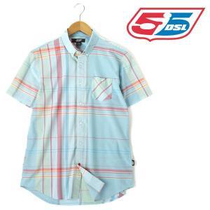 大きいサイズ メンズ XL XXL 55DSL 半袖チェックシャツ ブルー系 USA直輸入 05d022-55a39-d002|bmo