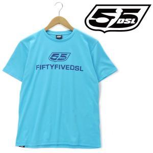 大きいサイズ メンズ XL XXL 3XL 55DSL 半袖プリントTシャツ ブルー系 USA直輸入 05d02g-00v51-d888|bmo