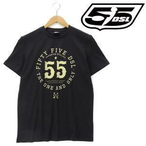大きいサイズ メンズ XL XXL 3XL 55DSL 半袖プリントTシャツ ブラック USA直輸入 05d030-00v51-d900|bmo