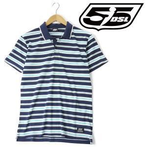 大きいサイズ メンズ XL XXL 55DSL 半袖ポロシャツ ブルー系 USA直輸入 05d03n-55a63-d002|bmo