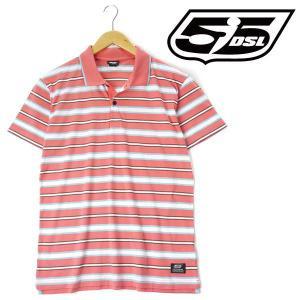 大きいサイズ メンズ XL XXL 55DSL 半袖ポロシャツ ピンク系 USA直輸入 05d03n-55a63-d003|bmo